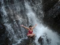 Под водопадом
